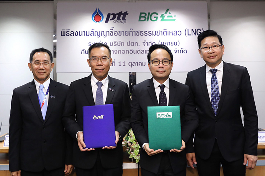 PTT and BIG seal a comprehensive deal to sell LNG with American technology and safety standard